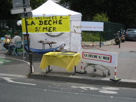 13 juin, Paris, la plage, le camping, la dèche