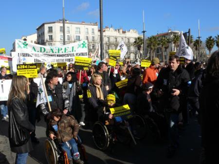 Dans les rue de Perpignan, le 29 janvier 2009